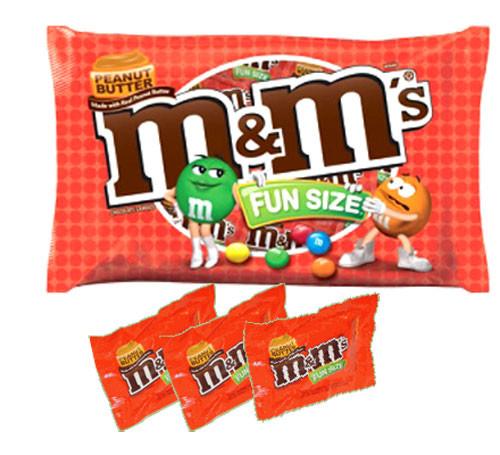 M&M Peanut Butter Fun Size 10.57oz Bag (16 Count)