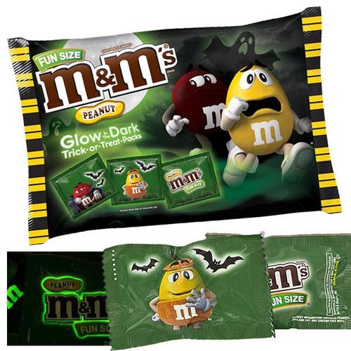 M&M's Peanut Glow In Dark Fun Size 15oz Bag