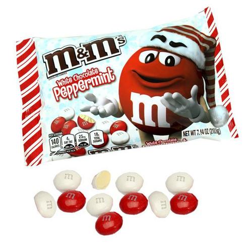 M&M's White Peppermint Christmas 7.44oz bag