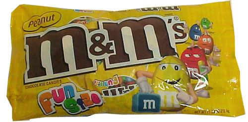 M&M Peanut Snack Size Candy 11.23oz Bag (18ct)