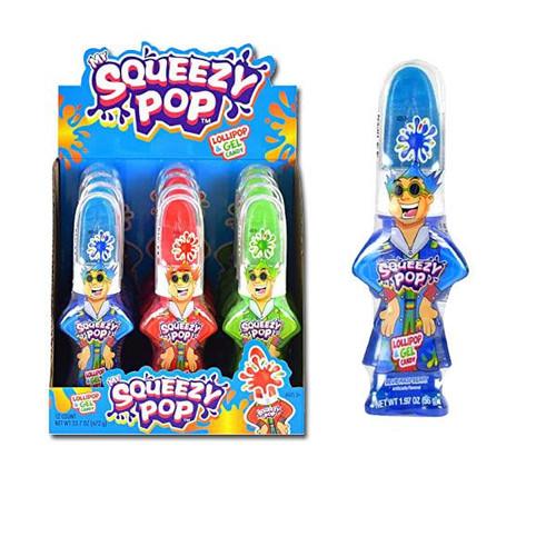 Mr Squeezy Squeeze N Lik Lollipop12 Count