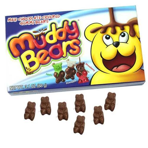 Muddy Chocolate Gummi Bears 3.1oz Box