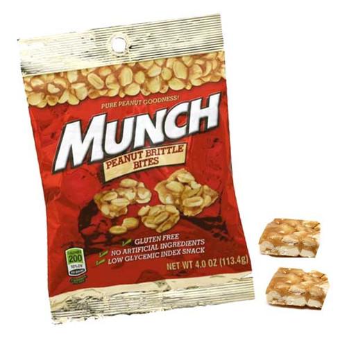 Munch Peanut Brittle Bites 4oz Bag