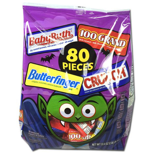 Nestle Assorted Halloween Candy Mix 80 Count