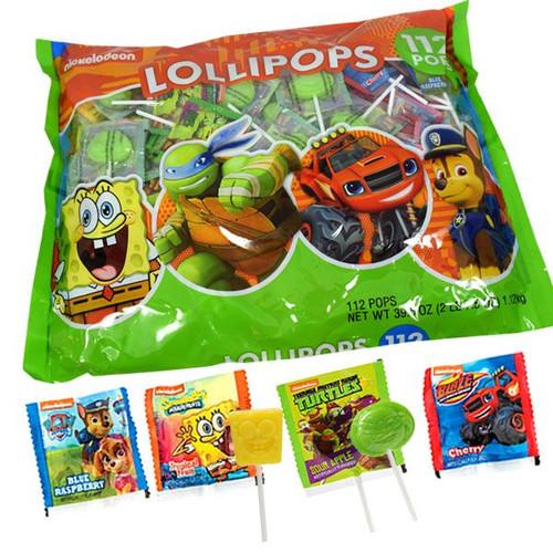 Nickelodeon Assorted Lollipops 112 Count
