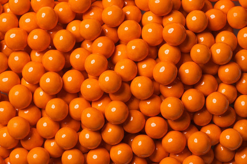 Orange Mini Chocolate Candy Balls 2lb Sixlets
