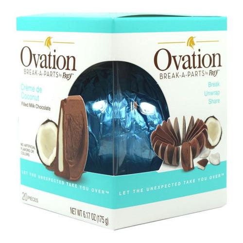 Ovation Creme De Coconut Milk Chocolate 6.17oz Ball