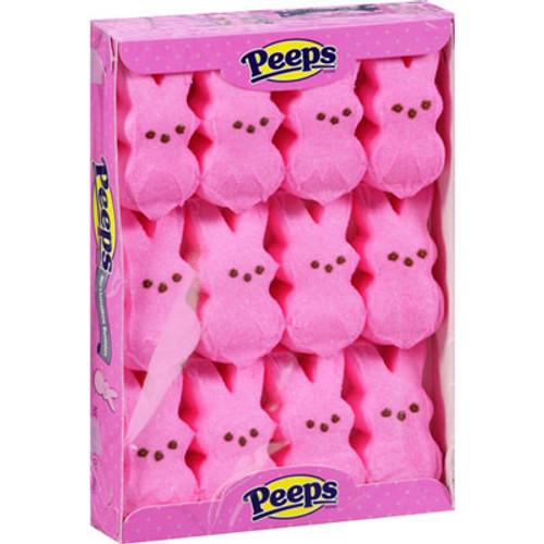 Marshmallow Peeps Bunnies 12ct - Pink