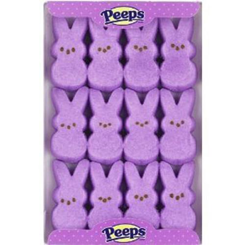 Marshmallow Peeps Bunnies 12ct - Purple