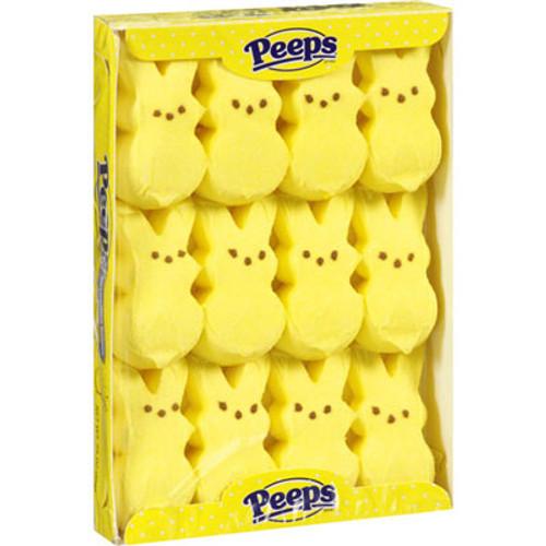 Marshmallow Peeps Bunnies 12ct - Yellow