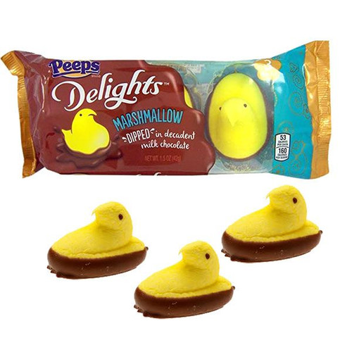 Peeps Delights Yellow Chocolate Dipped 3 Pack