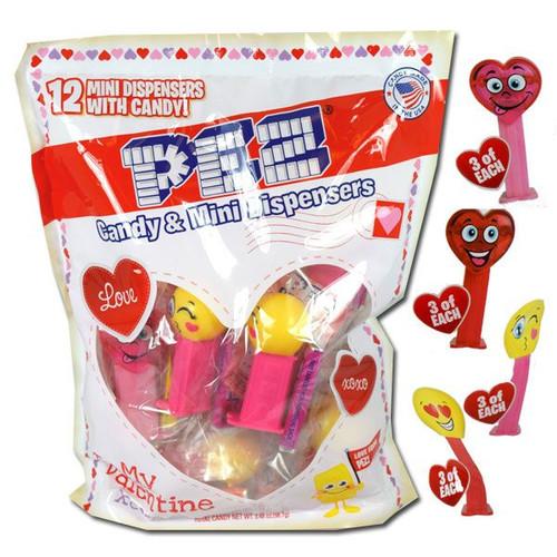 "Pez ""Mini""  Valentine's Dispenser Candy 12 Count"