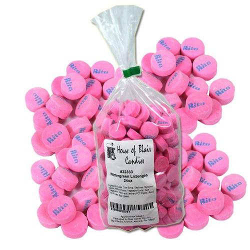 Pink Wintergreen Lozengers 24oz - Canadian Mints