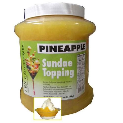 Pineapple Sundae Topping 4.15lb Jar