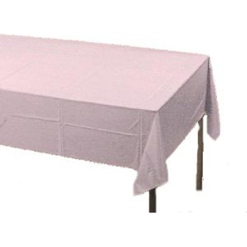 White Plastic Tablecloth