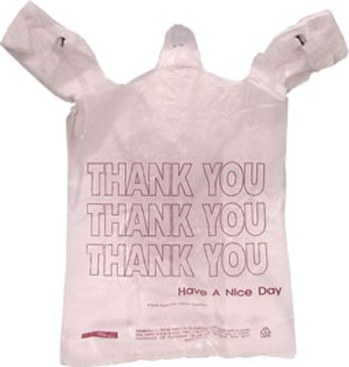 """Plastic """"Thank You"""" Bags<br>T-Saks 1000ct"""