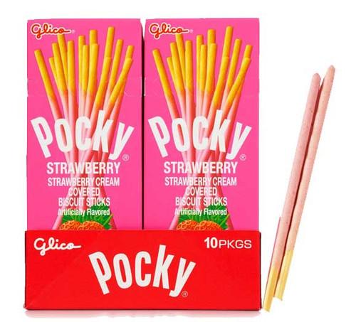 Pocky Strawberry Cream Sticks 10 Count