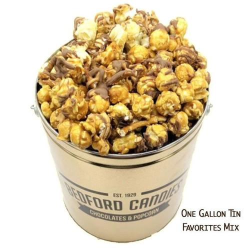 Bedford Candies Popcorn Tin Favorites Mix 1 Gallon