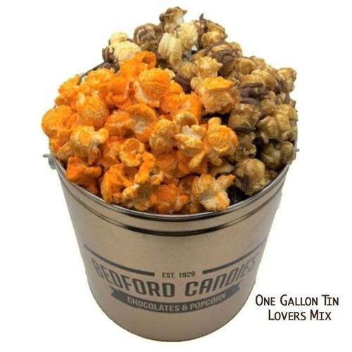 Bedford Candies Popcorn Tin Lovers Mix 1 Gallon