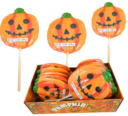 Pumpkin Lollipops Large 12 Count
