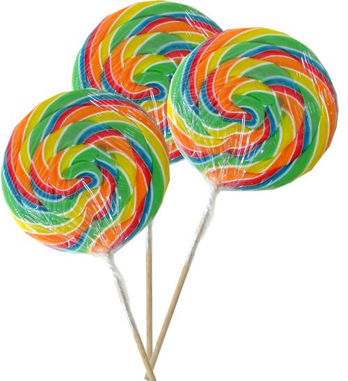 Rainbow Swirly Lollipop Jumbo Size