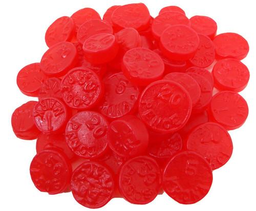 Cherry Gummy Ju Ju Coins 5lb Bulk