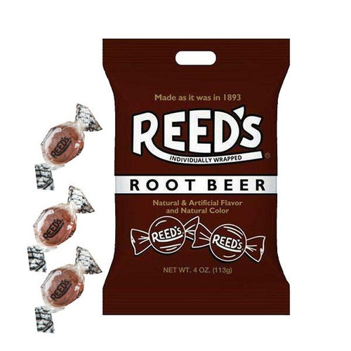 Reed's Root Beer Hard Candies 4oz Bag