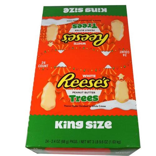 """Reese's White Chocolate """"King"""" Size Trees 24 Count"""