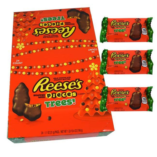 Reese's Peanut Butter Trees Filled With Reese Pieces 24 Count