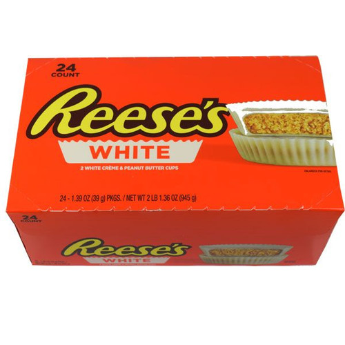 """Reese's """"White"""" Peanut Butter Cups 24 Count"""