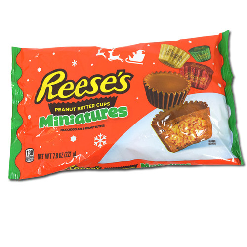 Reese's Peanut Butter Miniatures 7.8oz Christmas Candy