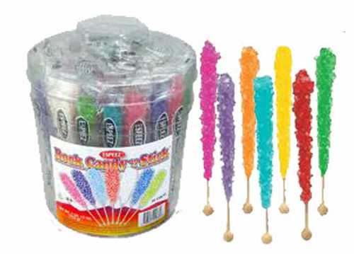 Rock Candy On Sticks  36 Count Assorted Colors