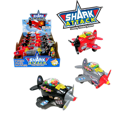 Shark Attack Candy Plane Toy 12 Count