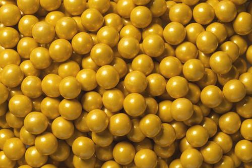 Shimmer Gold Mini Chocolate Balls 2lb Sixlets