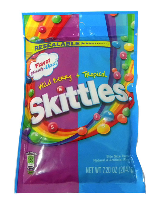 Skittles Flavor Mashups Tropical & Berry 7.20oz bag