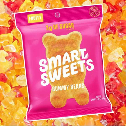 Smart Sweets Gummy Fruit Bears 1.8oz Bag