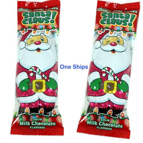 Solid Milk Chocolate Santa 4.4oz (One)