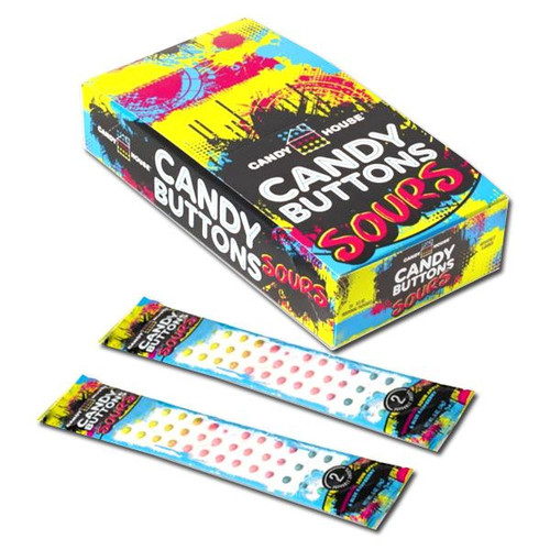 Sour Candy Buttons 24 Count