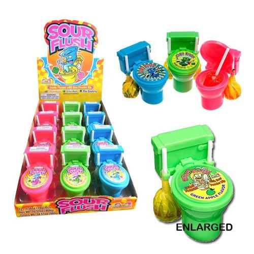 Sour Flush Lollipops 12 Count
