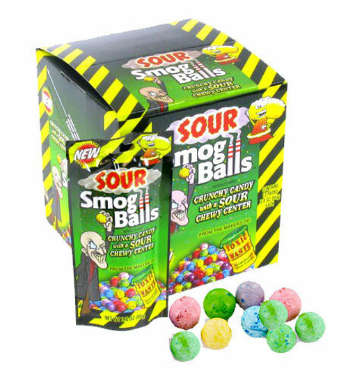 Sour Smog Balls Candy 12 Count