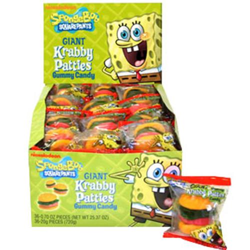 Sponge Bob Crabby Patties 36ct Gummi Burgers