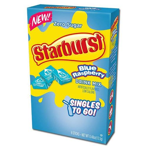Starburst Singles To Go Zero Sugar Drink Mix, Blue Rasp 6 CT