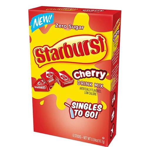 Starburst Singles To Go Zero Sugar Drink Mix, Cherry 6 CT