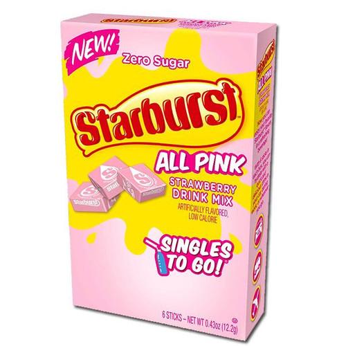 Starburst Singles To Go Zero Sugar Drink Mix, Strawberry 6 CT
