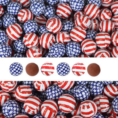 Stars & Stripes Patriotic Chocolate Balls 2lb (140)