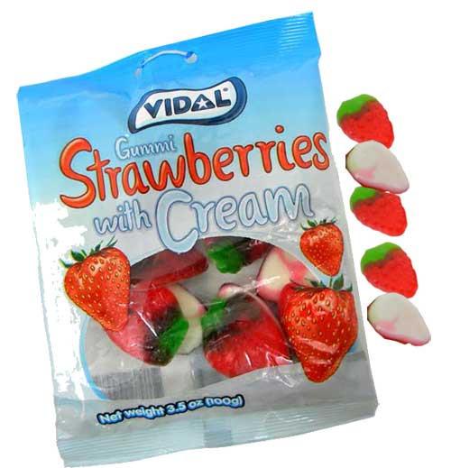 Gummi Strawberry & Creams 3.5oz Bag