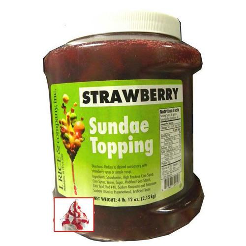 Strawberry Sundae Topping 4.12lb Jar