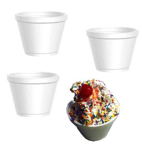 Styrofoam Squat Cup 12oz 25 Count