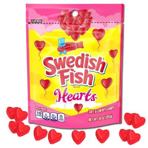 Swedish Fish Gummi Hearts 10oz Bag