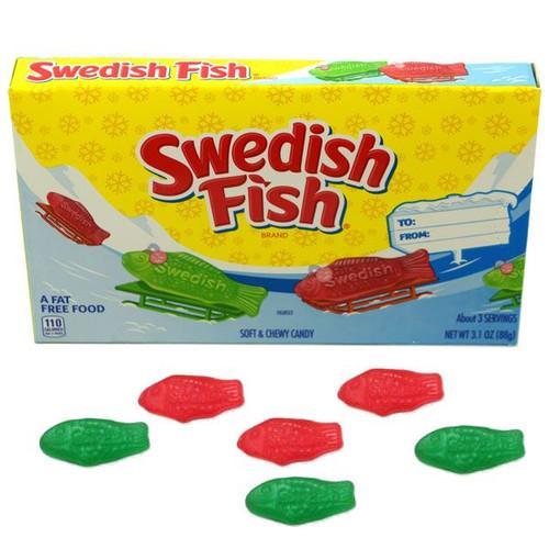 Swedish Gummi Fish Christmas Box 3.1oz